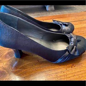 Cute black mini heels